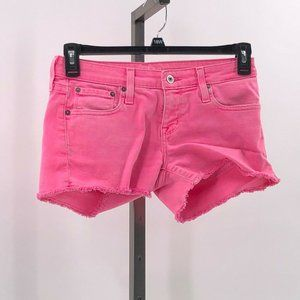 Big Star 1974 Cut Off Jean Shorts in Hot Pink 26